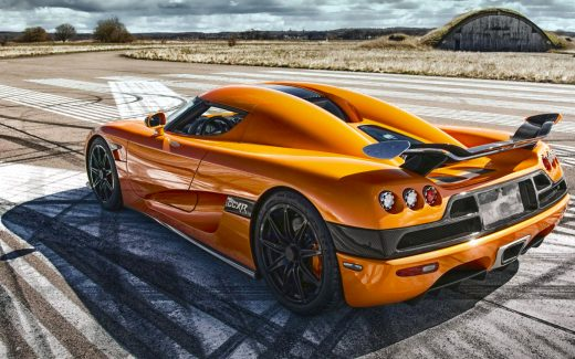 sports car in Orange Color