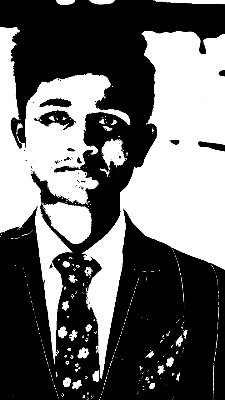 man Black and white pic of Neeshu singh